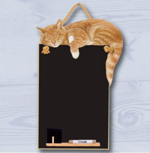 Ginger Cat A4 Chalkboard (HCB039)