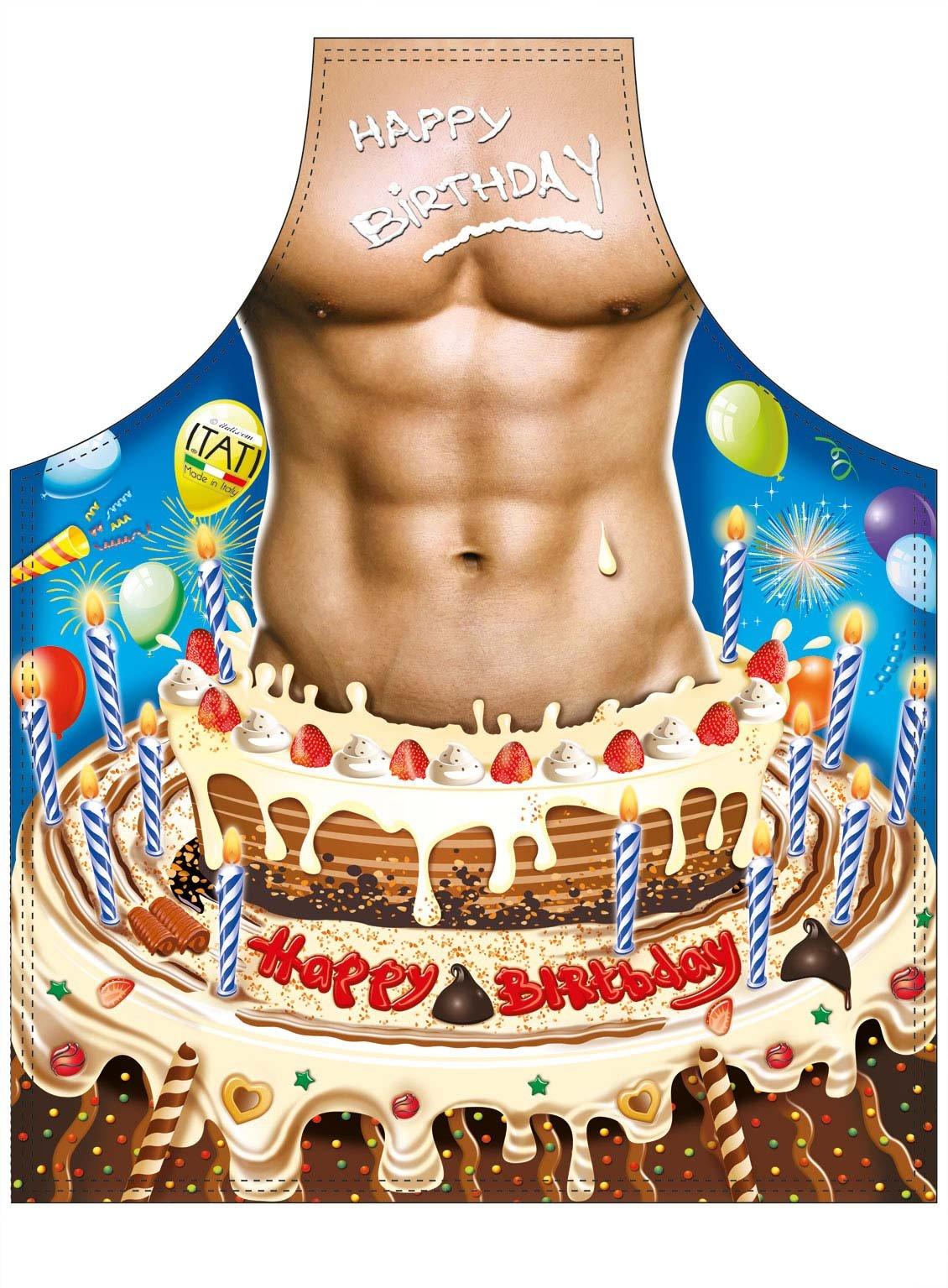 Happy Birthday Man Novelty ApronHappy Birthday Cake For Men