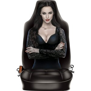Dark Lady Novelty Front Car Seat Back Cover